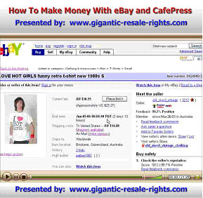 How To Make Money With eBay And CafePress graphic