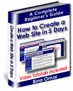 Cover graphic - How To Create A Web Site In 5 Days