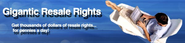 Gigantic Resale Rights.com logo - master resale rights and private label rights