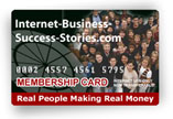 Membership Card Graphic Internet-Business-Success-Stories.com