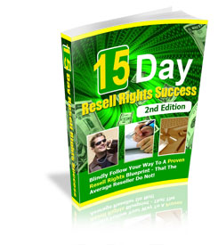 15 Day Resell Rights Success cover graphic