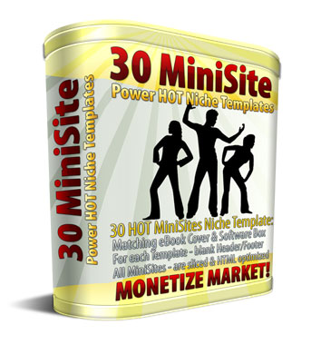 30 MiniSite Templates virtual box