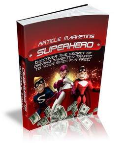 Article Marketing Superhero virtual cover