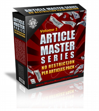Article Master Series Volume 1 PLR Articles graphic