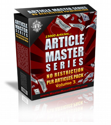Article Master Series Volume 3 PLR Articles graphic