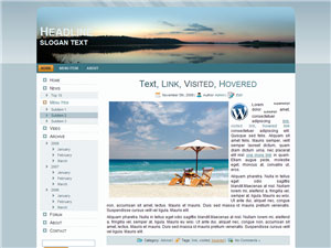 HTML, Drupal, Joomla, and Wordpress BlueSunset Templates - Wordpress screenshot