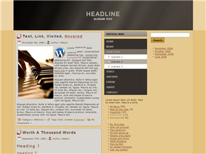 HTML, Drupal, Joomla, and Wordpress Chartan Templates - Wordpress screenshot