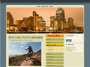 HTML, Drupal, Joomla, and Wordpress City Dusk Templates - Wordpress screenshot