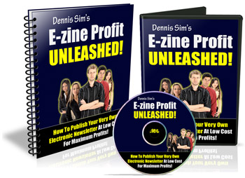 E-zine Profit Unleashed! virtual cover