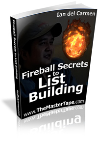Fireball Secrets To List Building cover graphic