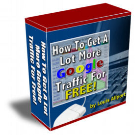 How To Get A Lot More Google Traffic For FREE! cover graphic