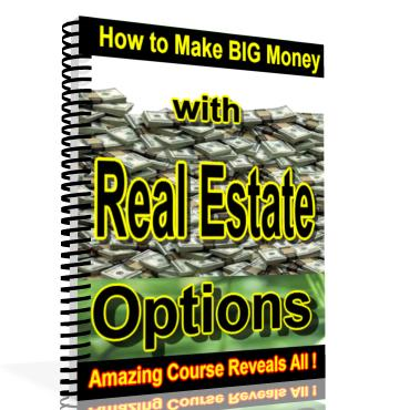 How To Make Big Money With Real Estate Options cover graphic