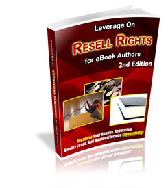 Leverage On Resale Rights For eBook Authors cover graphic