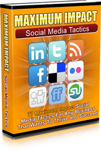 Maximum Impact Social Media Tactics virtual cover