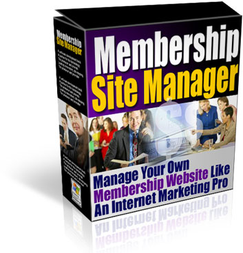 Membership Site Manager Cover graphic