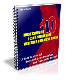 10 Most Common E-zine Publishing Mistakes You Must Avoid virtual cover