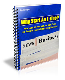 Why Start An E-zine? virtual cover
