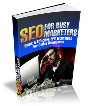SEO For Busy Marketers virtual cover