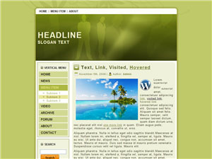 HTML, Drupal, Joomla, and Wordpress Silhouette Templates - Wordpress screenshot