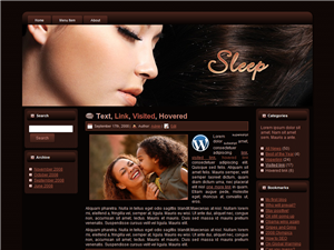 HTML, Blogger, and Wordpress Dream 2 Templates - Wordpress screenshot
