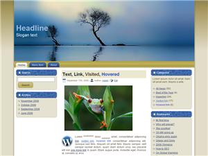 HTML, Drupal, Joomla, and Wordpress Windy Trees Templates 0002 - Wordpress screenshot