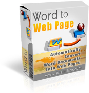 Word To Web Page box graphic